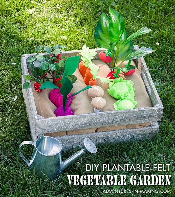 Tutorial: Plantable felt vegetable garden play set