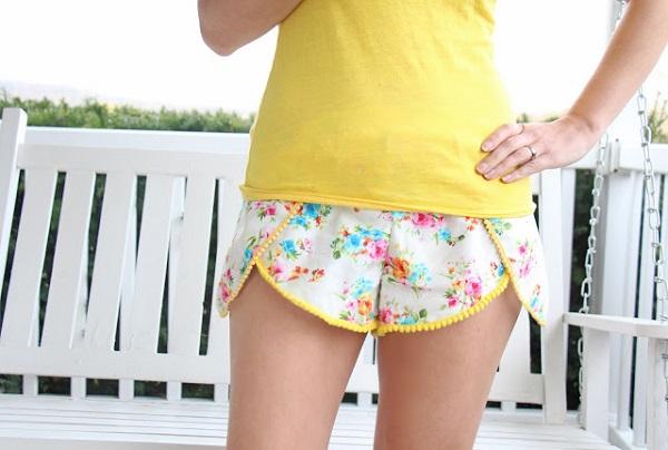 Free pattern: Pinwheel shorts