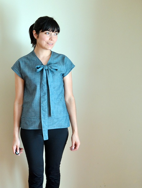 Free pattern: Necktie Top