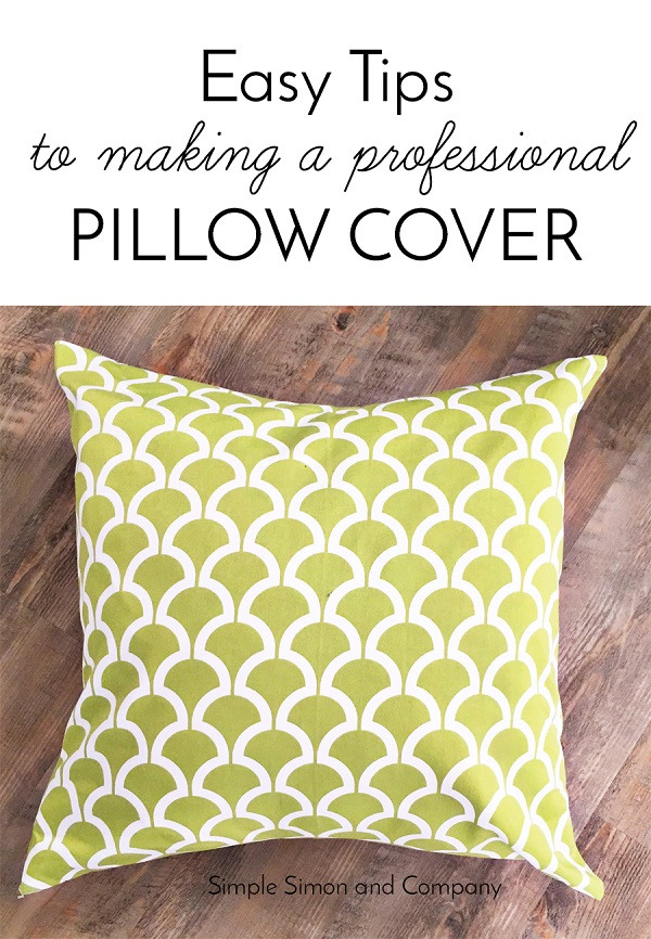 Tutorial: Sew a pillow cover like a pro