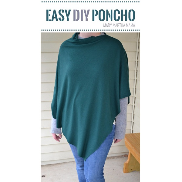 Tutorial: Super easy knit fabric poncho
