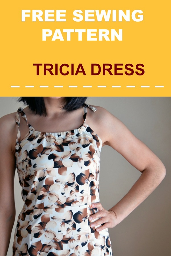 Free pattern: Tricia fitted halter dress