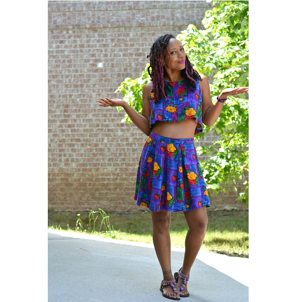 Tutorial: Turn a thrift store dress into a crop top skirt set