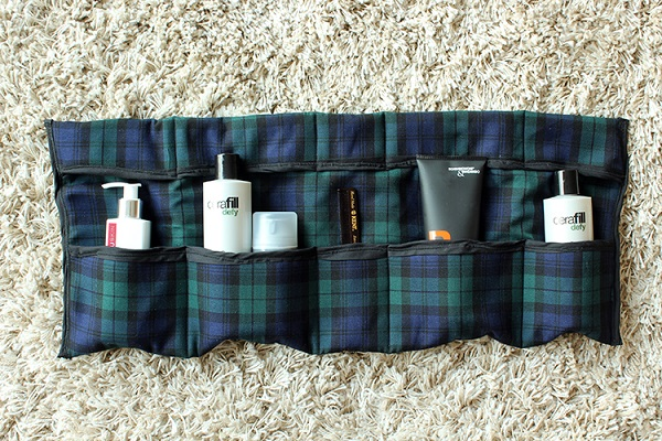 Tutorial Roll Up Travel Toiletry Organizer Sewing
