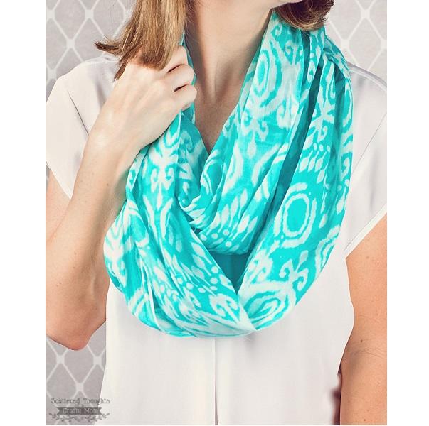Tutorial: 5-minute infinity scarf