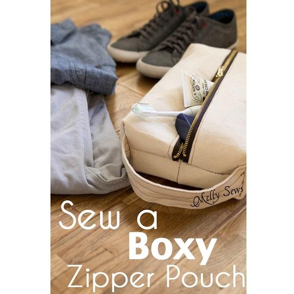 Tutorial: Boxy zipper pouch Dopp kit