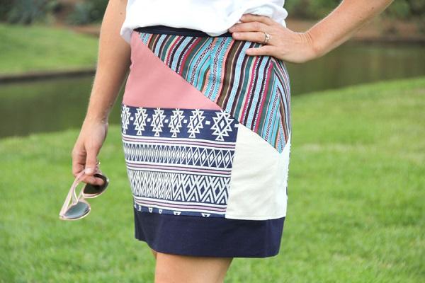 Tutorial: Boho patchwork pencil skirt