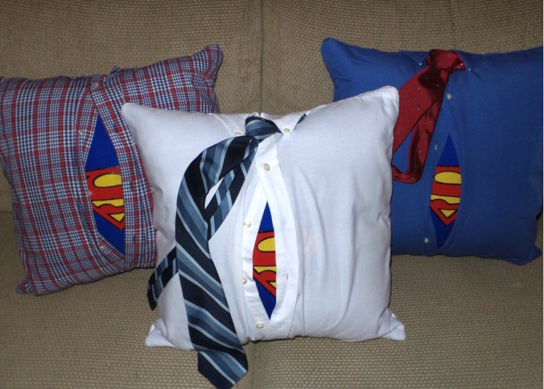 Tutorial Everyday Superhero Upcycled Dad S Shirt Pillow