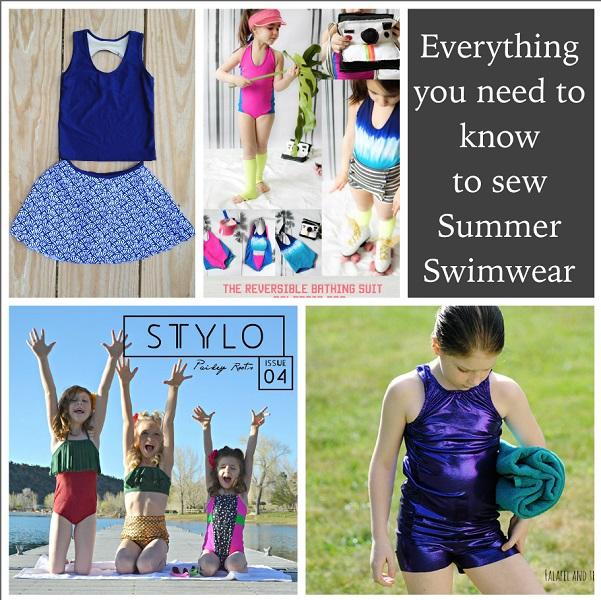 Children's swimwear sewing round-up