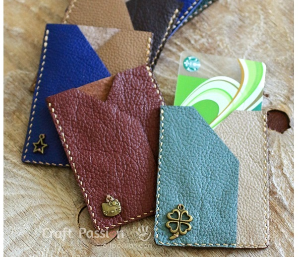 Tutorial: Leather business or credit card sleeve