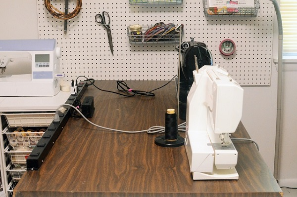 Easy way to tame the power cords in your sewing space