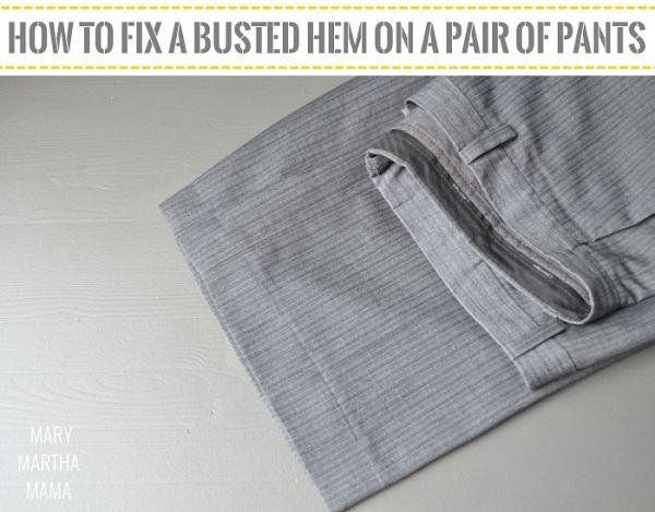 Tutorial Fix A Pants Hem Using A Blind Hem Stitch Sewing Mesmerizing Blind Hem Stitch Pants Sewing Machine
