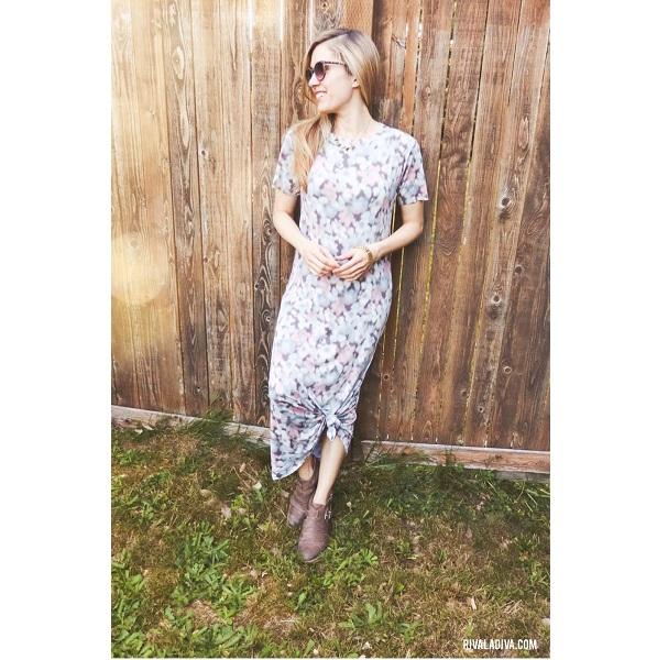 Tutorial: T-shirt maxi dress