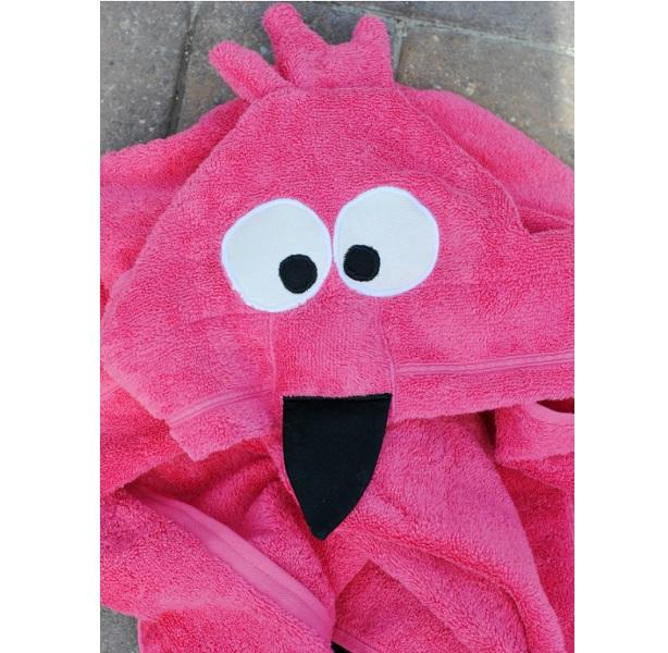 Tutorial: Flamingo hooded bath towel