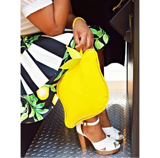Tutorial: Vinyl lemon clutch purse