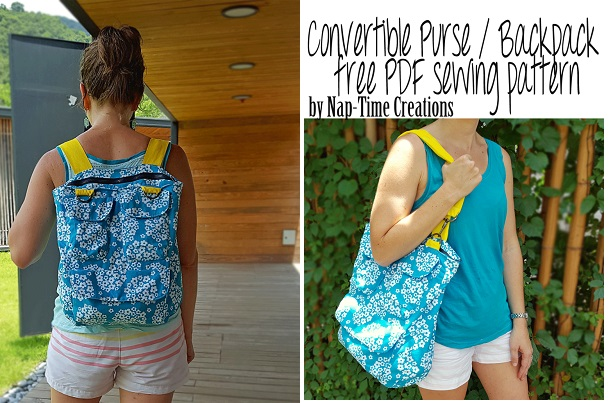 Free pattern: Convertible backpack tote