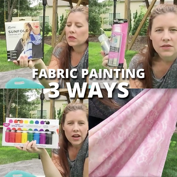 Video tutorial: 3 ways to paint or dye fabric
