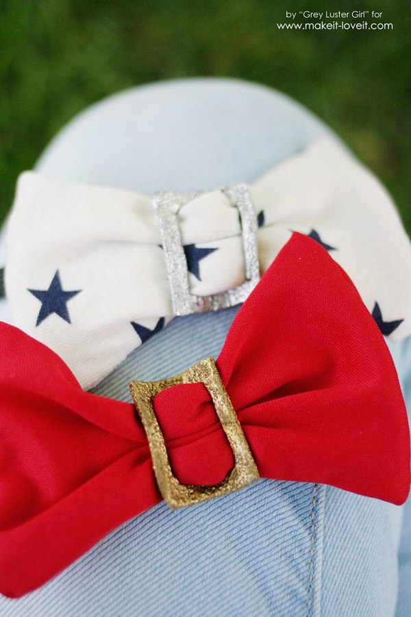 Tutorial: Faux metal buckle hair bows