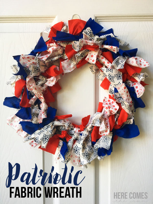 Tutorial Patriotic Fabric Wreath No Sewing Required Sewing