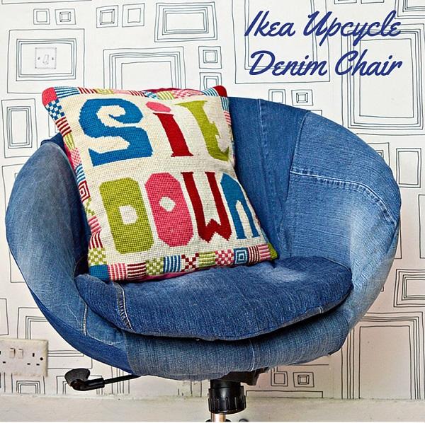 Tutorial: Upcycled denim IKEA chair