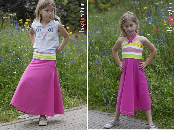 Tutorial: Convertible maxi skirt and halter dress