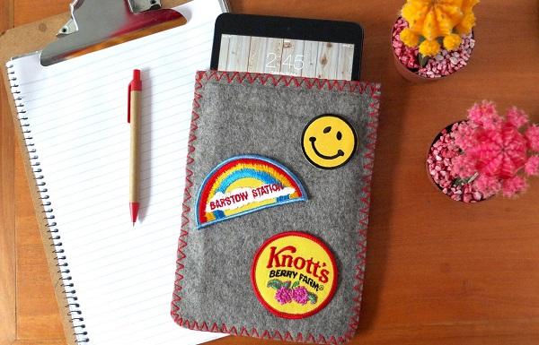 Tutorial: Vintage camp blanket iPad sleeve