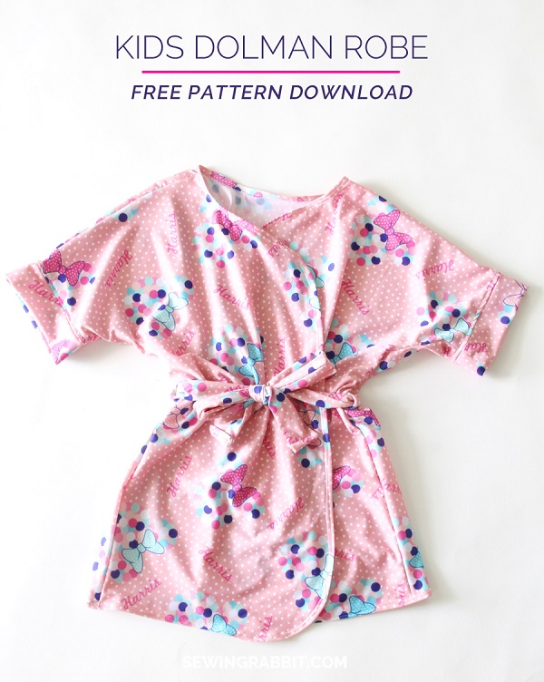 Free pattern: Kids\' dolman robe – Sewing
