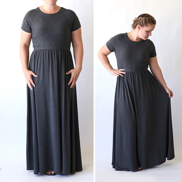 Free pattern: Raglan maxi dress