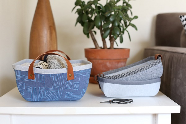 Free pattern: Tiny Treasures fabric basket and tray
