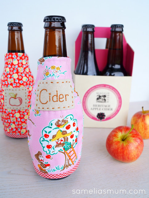 Free pattern: Cider sleeve bottle cozy