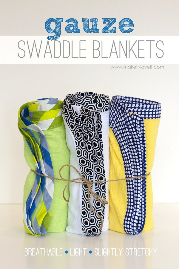 Tutorial: Gauze swaddle blanket