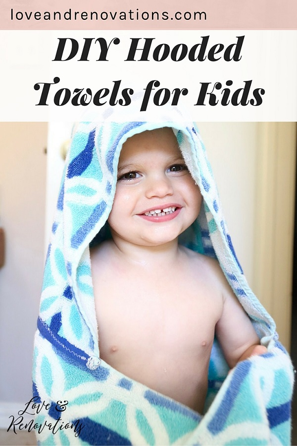 Tutorial: Easy hooded towel