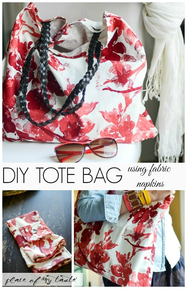 Tutorial: Make a bag from 2 napkins and 1 belt