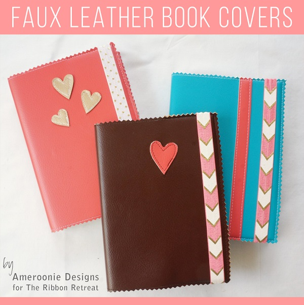 Book Cover Craft S : Tutorial easy faux leather book covers sewing