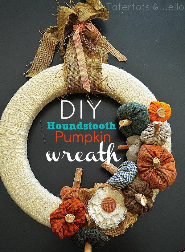 Tutorial: Houndstooth pumpkin fall wreath