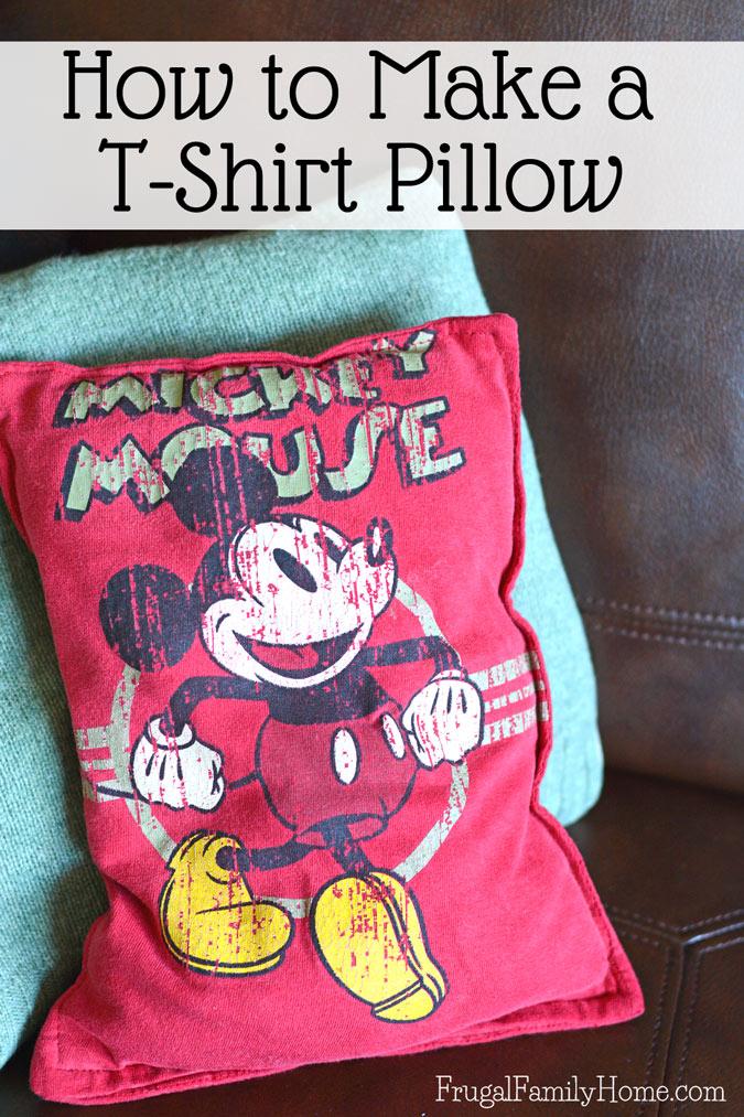 Tutorial Turn An Outgrown T Shirt Into A Cute New Pillow