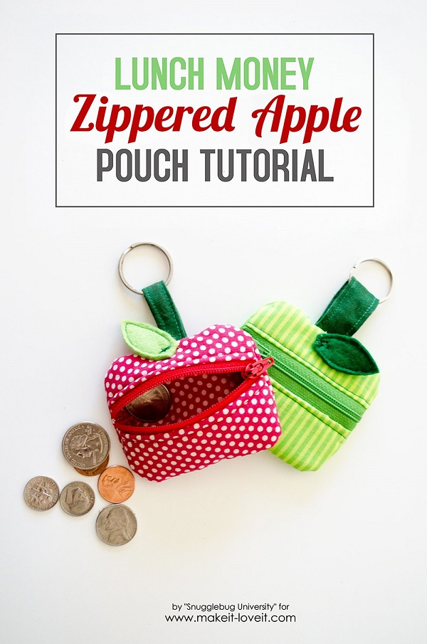 Tutorial: Apple lunch money pouch