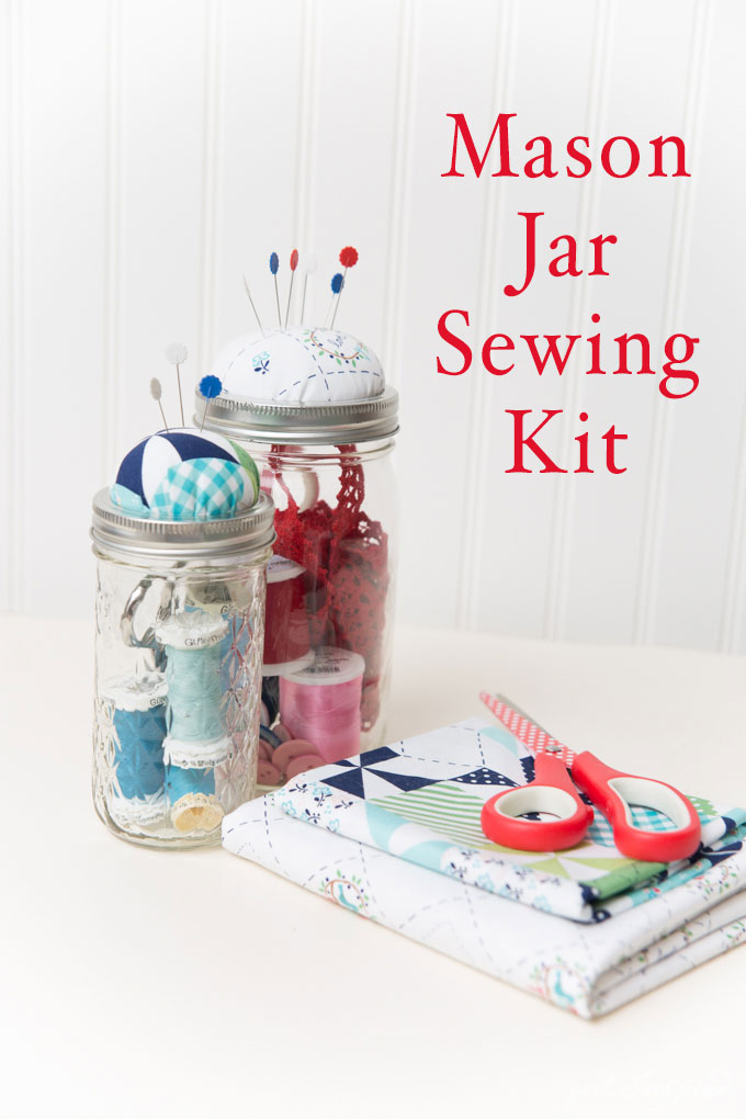 Tutorial: Mason jar sewing kit