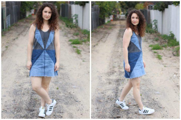 Tutorial: Recycled denim jeans dress