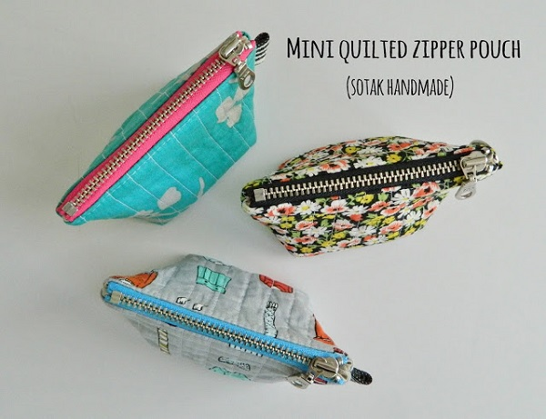 Tutorial: Itty quilted zip pouch