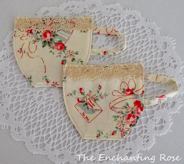 Tutorial: Tea cup fabric coasters