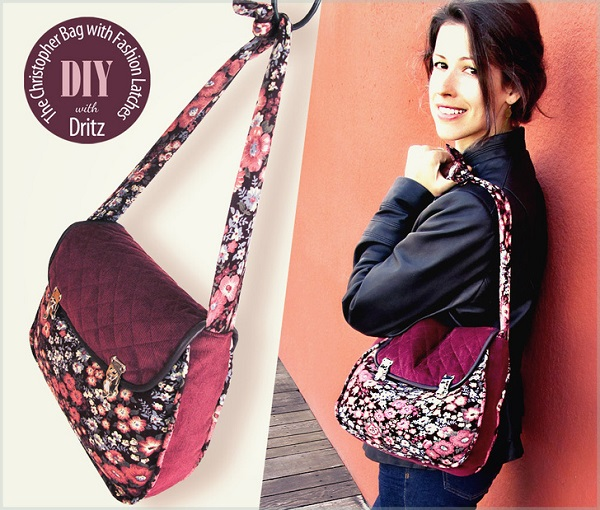 Free pattern: Latch flap bag with a knotted strap