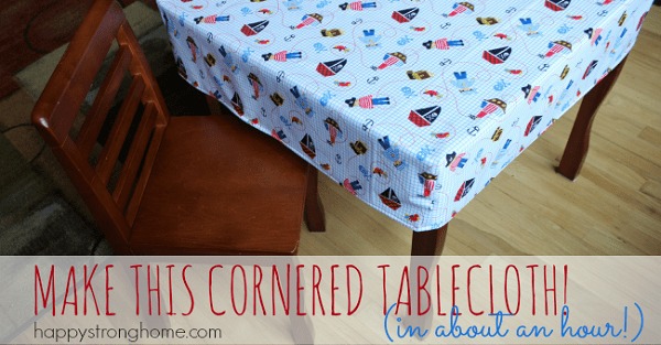 Tutorial 1 Hour Fitted Tablecloth Sewing