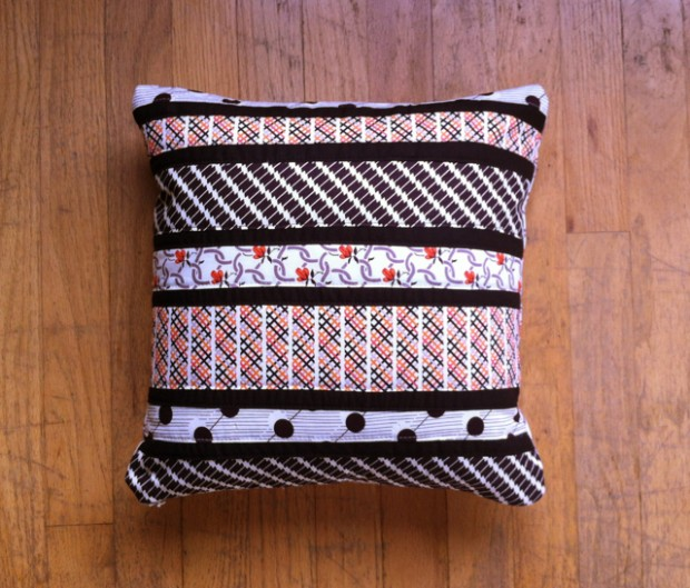 Tutorial: Patchwork striped pillow
