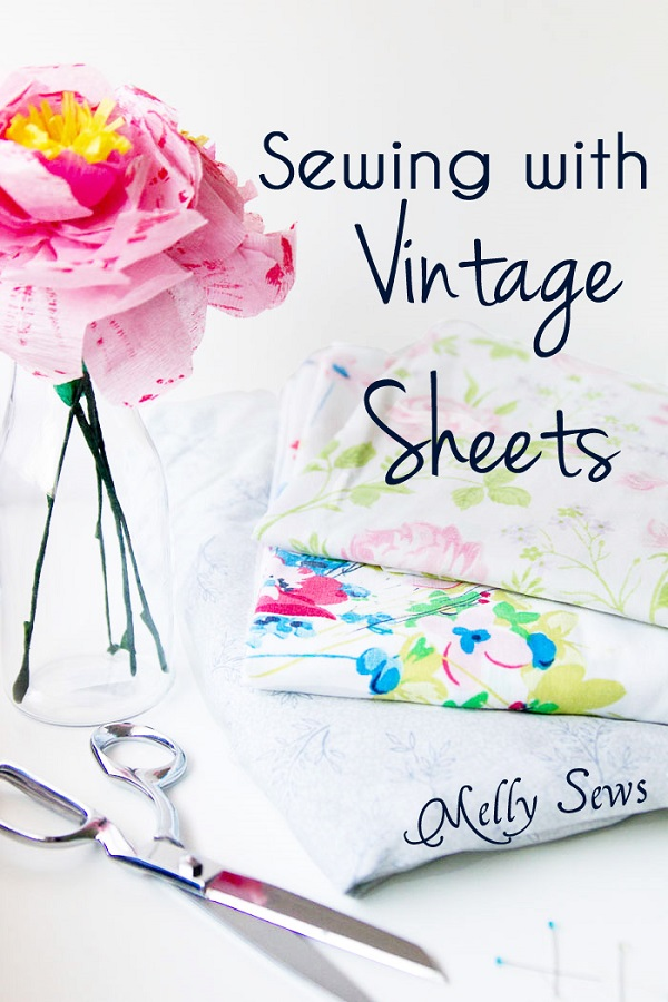 Tips for finding and sewing with vintage sheets