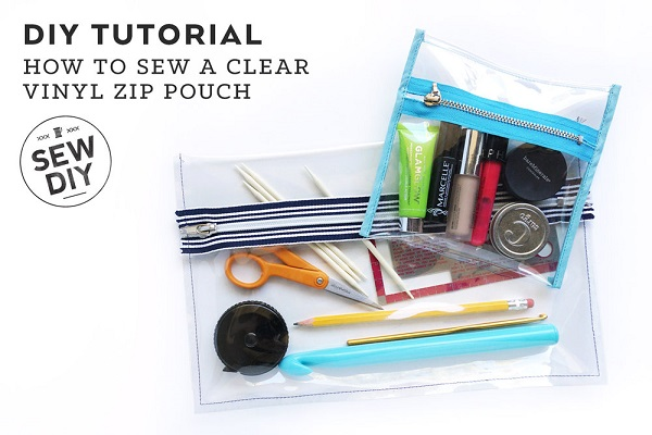 Tutorial Clear Vinyl Zip Pouch Sewing