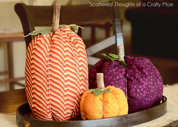 Tutorial: Easy fabric pumpkins for fall