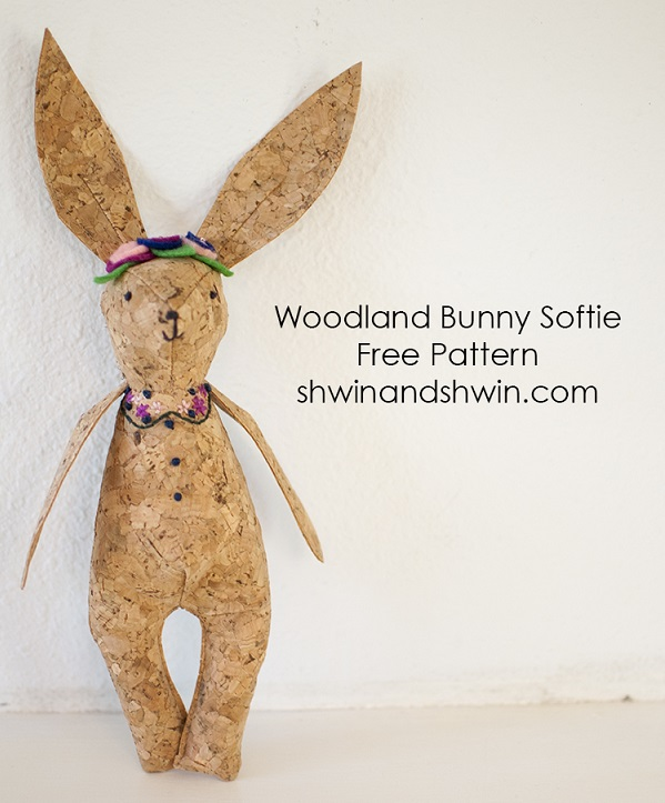 Free pattern: Woodland bunny softie