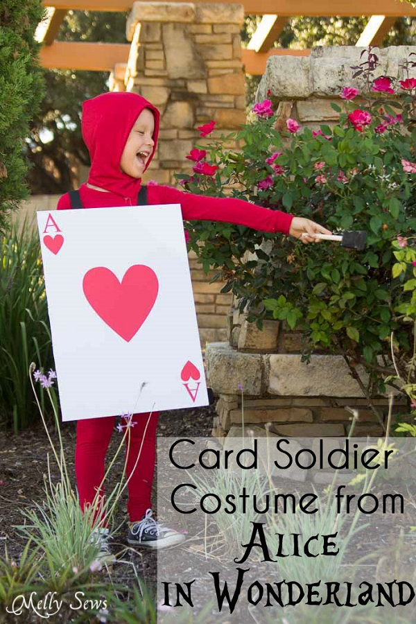 Tutorial: Alice in Wonderland card soldier costume