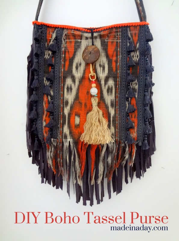 Tutorial: Boho tassel and fringe purse